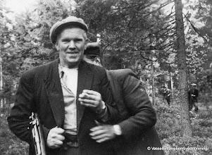 Photo: Jakt. Levi Eriksson Västantorp, 2 okända, Reinhold Israelsson Sörby
