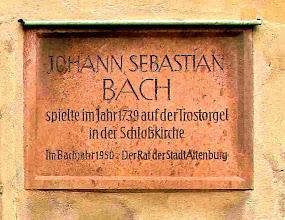 Photo: J S Bach played here (organ, not Skat)