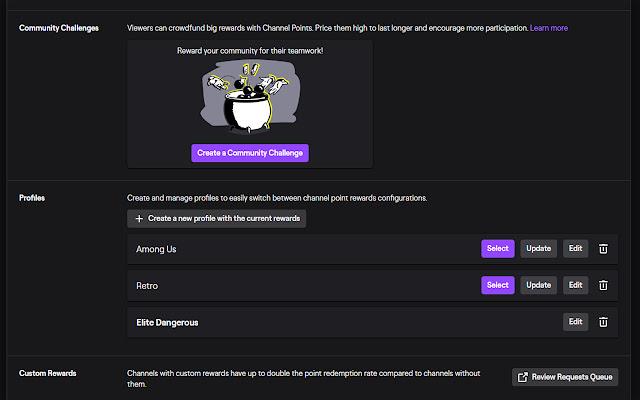 Twitch Profiles