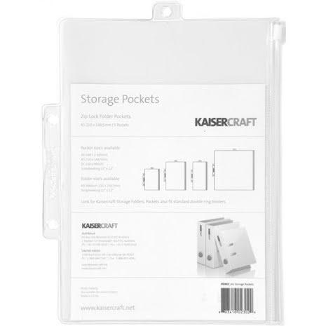 Kaisercraft Pack & Store Storage Pockets 5/Pkg 8.25X6