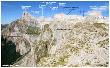 Photo: Os detallo (perdonad si tengo algún fallo), las cumbres próximas.