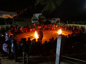 Photo: After the last night revival meetings we all sat around a camp fire and worshipped in praise and song. This was a very special occasion in celebrating what God had done in sweet visitations of the Lord. Blessed be God !!!