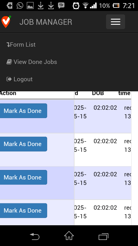 LocationForms Jobmanager- screenshot