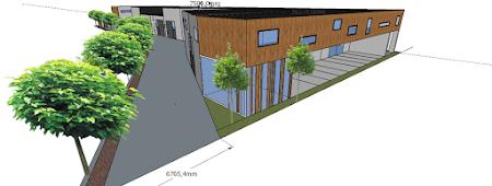 Ontwerp indeling en 3D visualisatie Industrieterrein Halleboom Herent