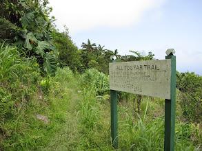 Photo: Vanaf het bord even een blik op het vervolg van de route. De plantages domineren en ik zou door kunnen gaan tot bijv. een prachtige bananenplantage, maar vanwege vermoeidheid en risico op zonnebrand besluit ik toch om hier terug te gaan over hetzelfde pad.