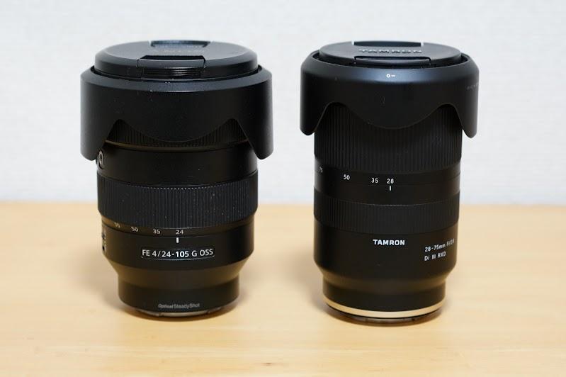 FE 24-105mm F4と比較して