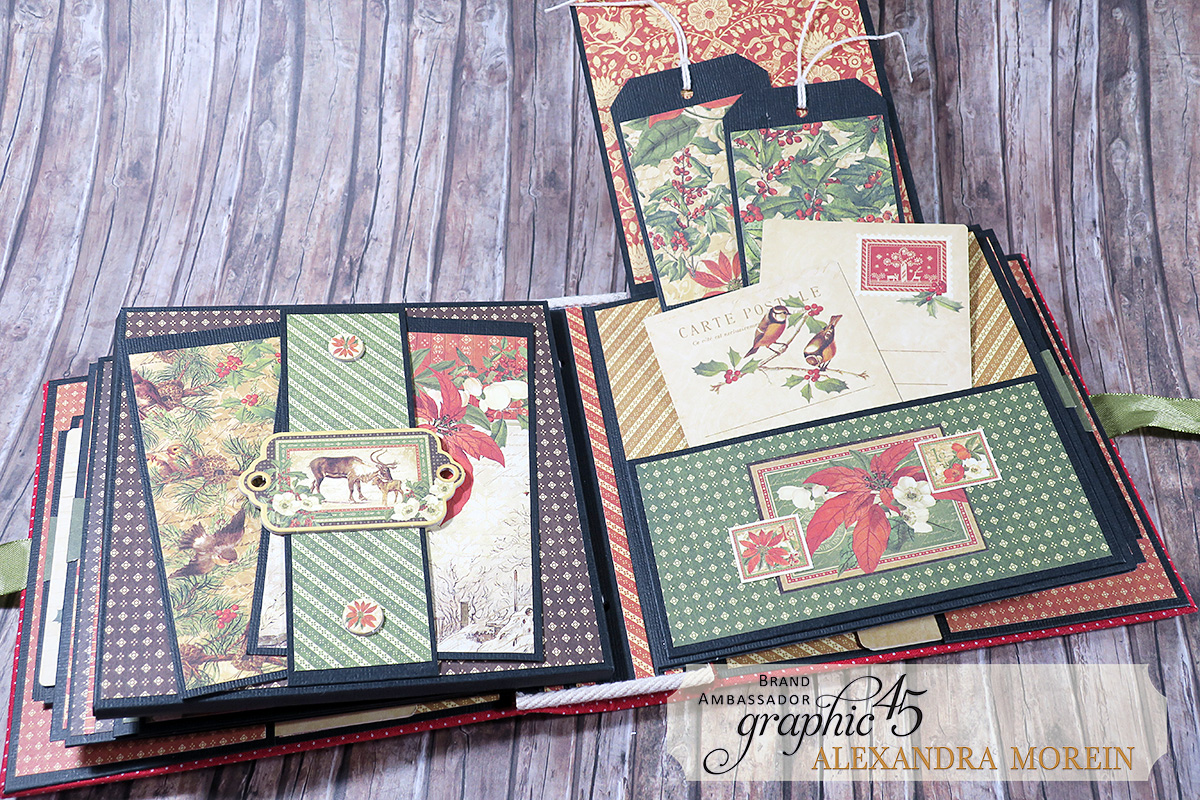 Winter Wonderland Mini Album, Project by Alexandra Morein, Product by Graphic 45, Photo 16.jpg