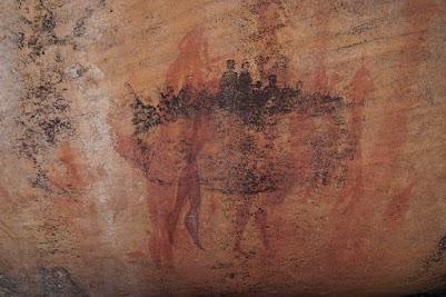 Felszeichnunn der Koisan am Sevilla Rock Art Trail