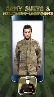 Vojenské Uniformy Fotomontáž - náhled