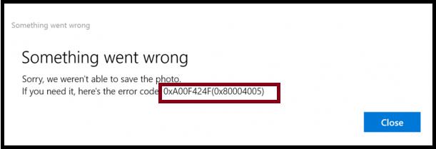 Webcam Error 0xA00F424F, 0x80004005/0x80004001