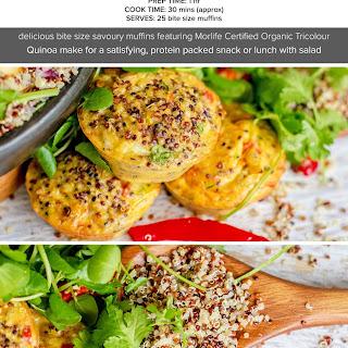 Tricolour Quinoa and Veggie Egg Muffins