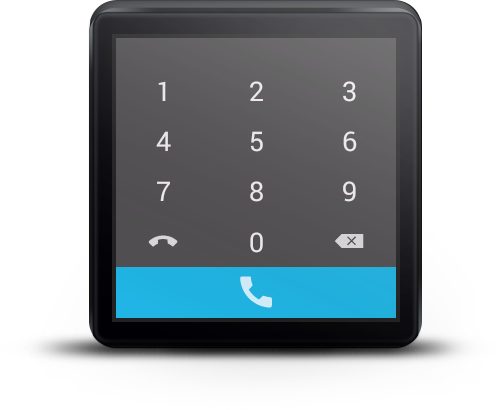 Mini Dialer for Android Wear- screenshot