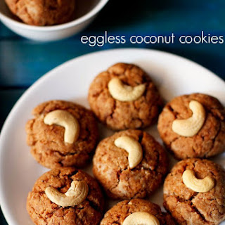 Eggless Whole Wheat Coconut Cookies