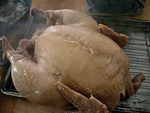 Photo: steamy cooked capon