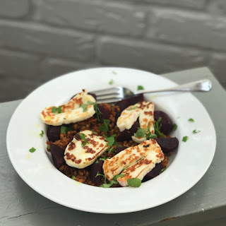 Spelt Salad with Halloumi and Baby Beets Recipe