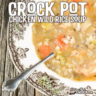 Crock Pot Chicken Wild Rice Soup.