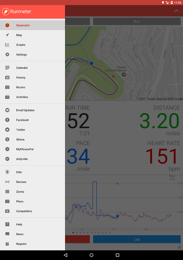 Runmeter GPS - Running, Cycling, Walking, Jogging- screenshot