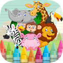 Paint Animal Coloring Shapes icon
