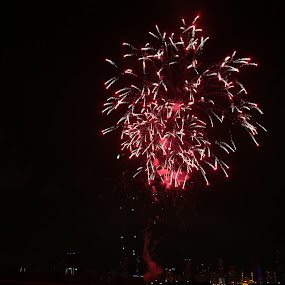 Fireworks by Manoj Ojha - Landscapes Waterscapes ( khaled lagoon, water festival, corniche, uae, fireworks, sharjah, buhaira )