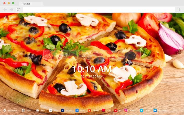 披薩 新標籤頁 高清壁紙 流行美食 主題