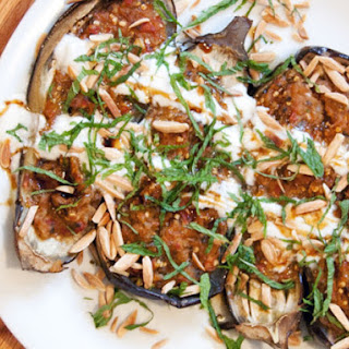 Fainting Imam (Turkish Baked Stuffed Eggplant)