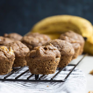Healthy Banana Bread Muffins with Walnuts.