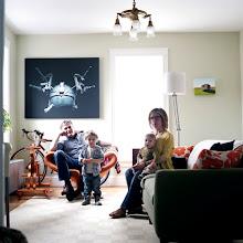 Photo: title: Lisa Brodar, Troy, Ptolemy & Cato Tyler, Portland, Maine date: 2011 relationship: friends, art, met on FB via Kellen Tucker years known: 0-5