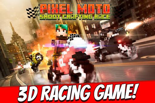 Pixel Moto Shoot Crafting Race