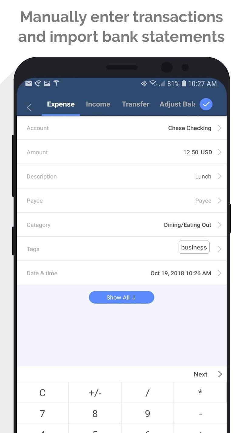 MoneyWiz 3 - Fiat & Crypto Screenshot 3