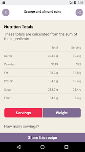 Cook and Count: Diabetes recipe app & carb counter- screenshot thumbnail
