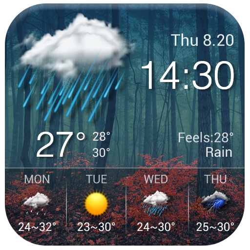 Local reliable temperature, weather widget&alerts file APK for Gaming PC/PS3/PS4 Smart TV