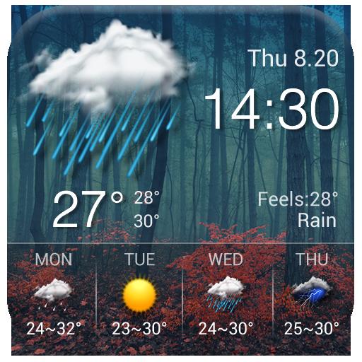 Clock & Weather - Maple
