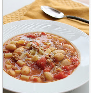 Sausage and Bean Soup with Pasta Recipe