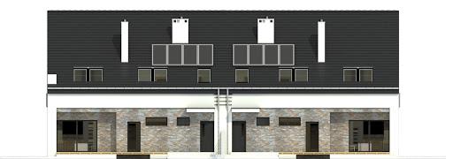 Bernikla z garażem 2-st. bliźniak A-BL1 - Elewacja tylna