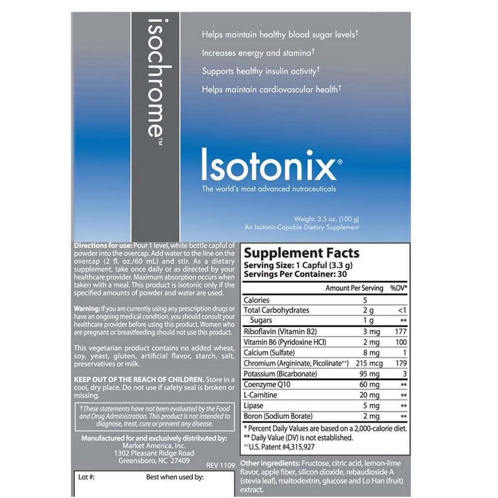 Isotonix® 等滲鉻配方粉末- 單瓶裝(30份)