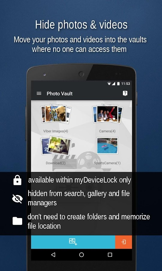 Best FREE AppLock- US Mobile Security myDeviceLock- screenshot