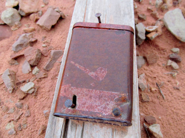 Tobacco tin containing a mining claim
