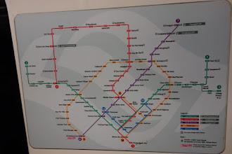 Photo: Lignes de train à Singapour
