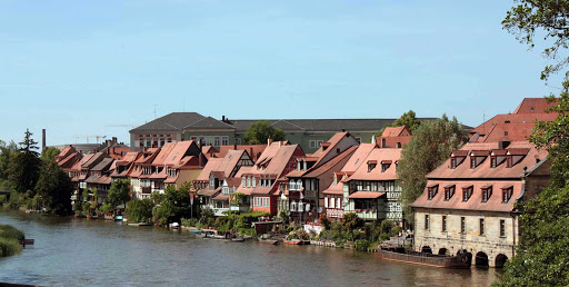 Germany-Bamberg-Little-Venice - Klein-Venedig (Little Venice) is a colony of fishermen's houses on the River Regnitz in Bamberg, Germany.