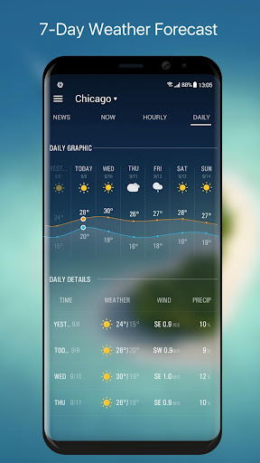 Weather Forecast Widget with Battery and Clock  screenshots 6