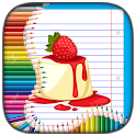 Sweet Cake Coloring Pages icon