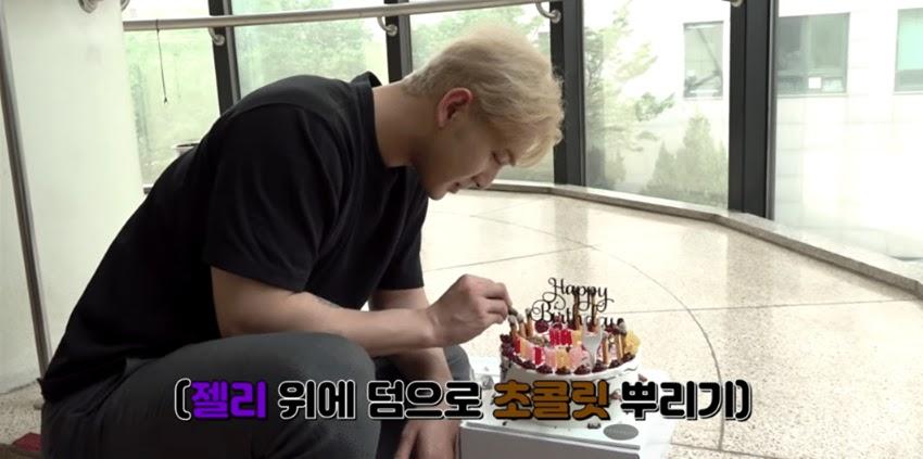 nuest aron birthday cake 3