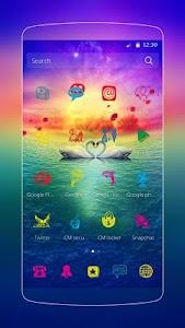 Love Swan Colorful Lake screenshot 1