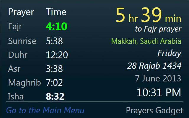 prayer times københavn