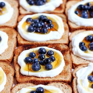 Simple Breakfast Yogurt Toast + Flax and Honey.