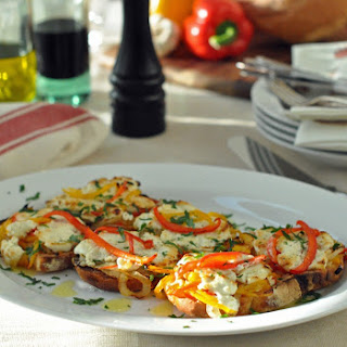 Red Pepper and Goat Cheese Tartine