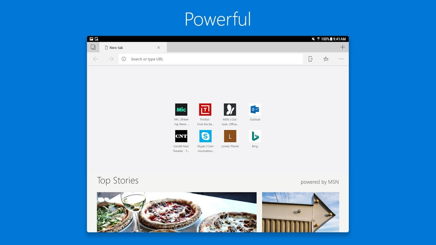 Microsoft Edge screenshots