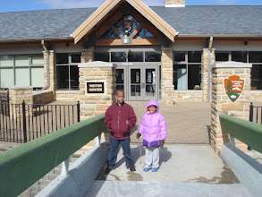 Photo: Kaleya & Q by the Visitor's Center