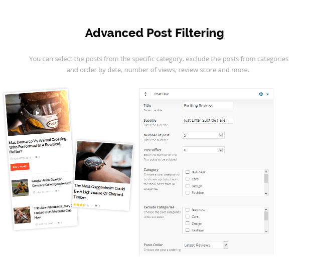 Advanced Post Filtering