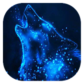 Starry wolf live wallpaper